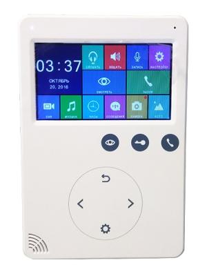 Solo VDP43M 4.3″ видеодомофон с DVR белый для системы контроля и управления доступом