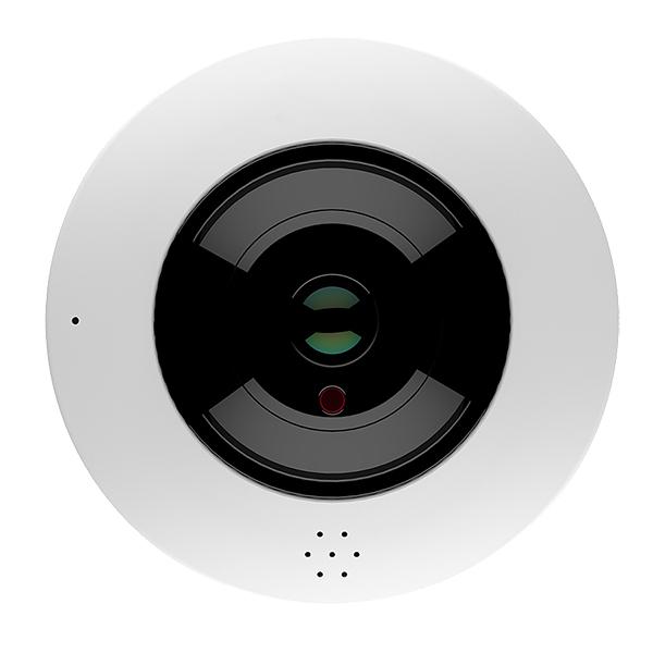 "IP-камера SPIP-4D620IR-1P с объективом ""рыбий глаз"" вид снизу"