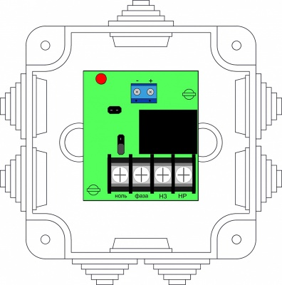 БУН1-12С Блок управления нагрузками для систем адресной пожарной сигнализации Бирюза
