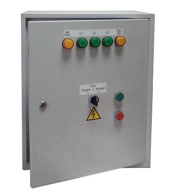 ШУЭ-7,5 IP31 шкаф управления для систем адресной пожарной сигнализации Бирюза